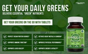 vegan spirulina tablets